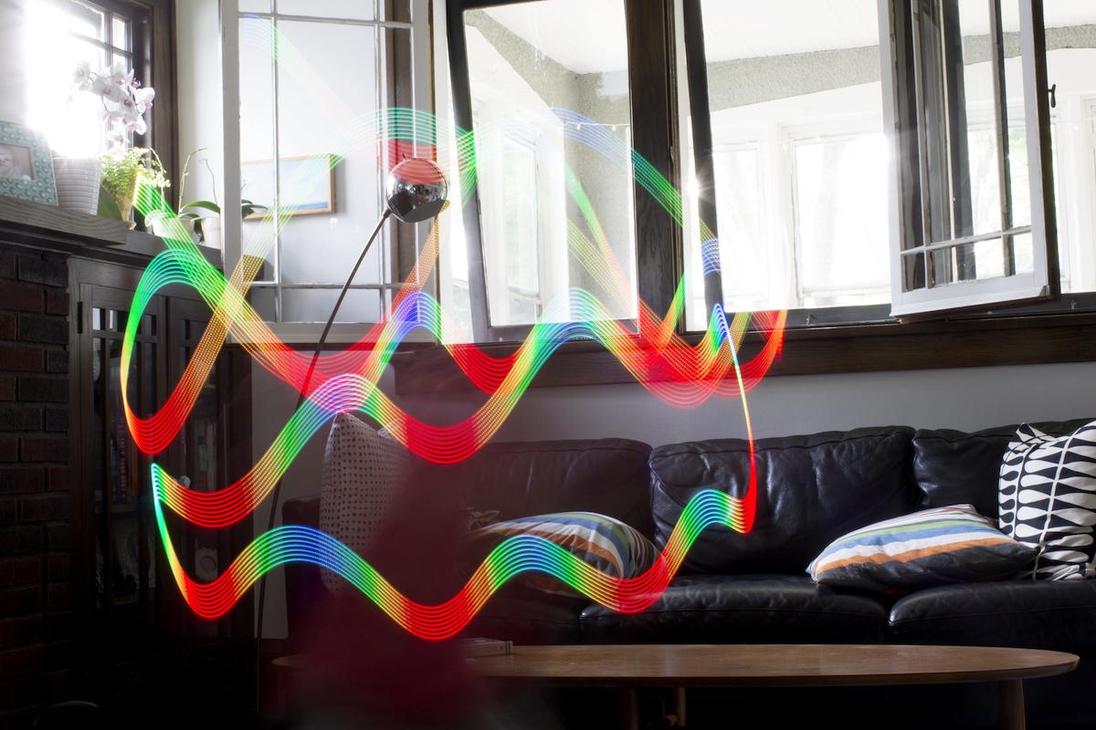 Light painting of accelerometer data